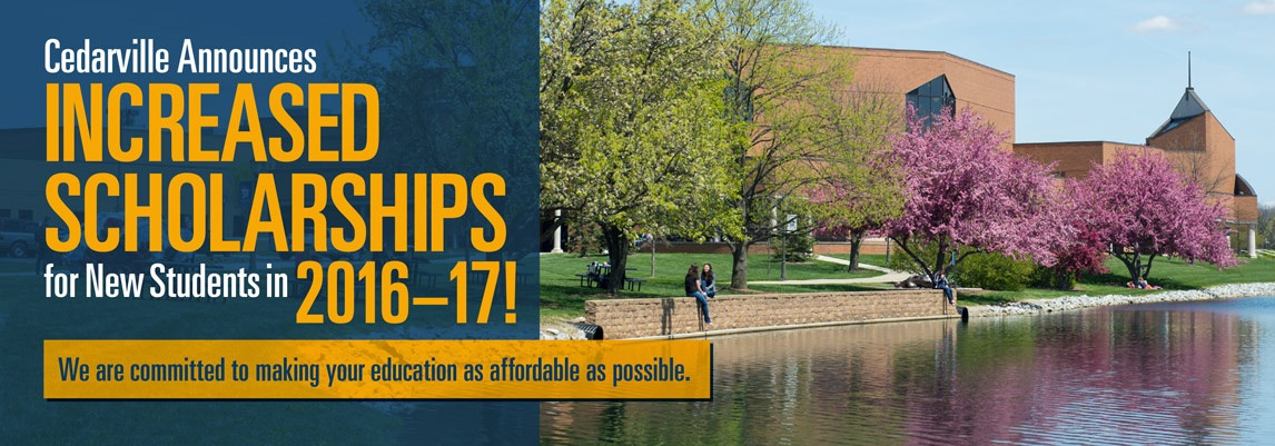 Cedarville Announces Increased Scholarships for New Students in 2016-17